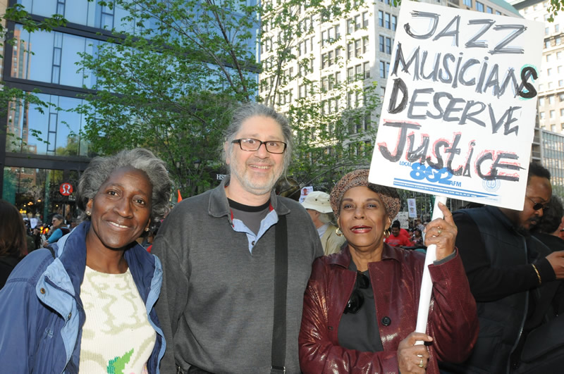 Sohrab attends w. union members MayDay 2013 rally (photo by Walter Karling)