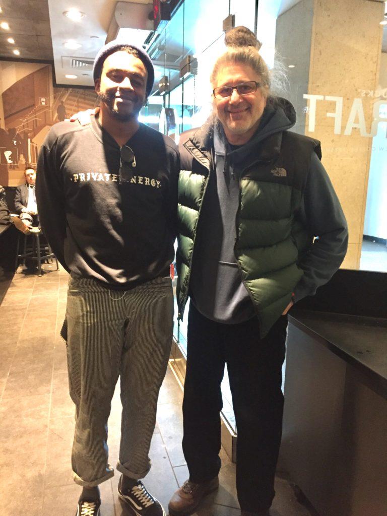 Sohrab with Ahmed Gallab aka Sinkane
